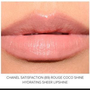 CHANEL Rouge coco shine 89 satisfaction lipstick